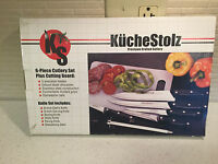 Kuchenstolz Cutlery Knife Set W/cutting Board 6pc