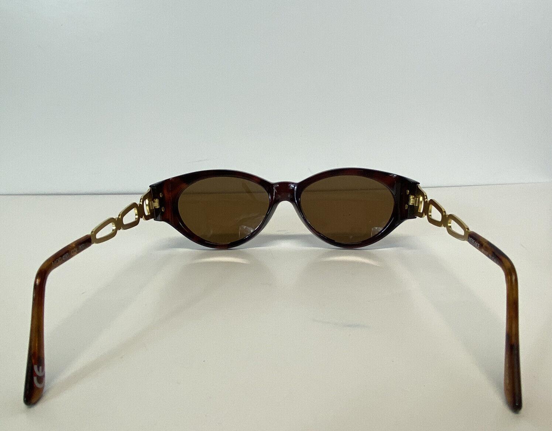 Rare Vtg Gianni Versace Brown Gold Medusa Sunglas… - image 3