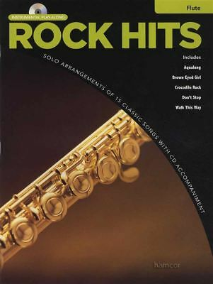 Contemporary Purposeful Rrp 9.95 Rock Hits Instrumental Play-along For Flute Sheet Music Book/cd A Wide Selection Of Colours And Designs Instruction Books, Cds & Video