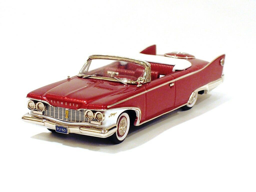 CONQUEST 1960 PLYMOUTH FURY CONVERTIBLE PLUM rosso CON 47x
