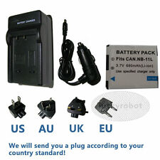 Battery Pack&charger NB-11L 3.6V 680mAh Fr Canon PowerShot A3400is IXUS 125HS