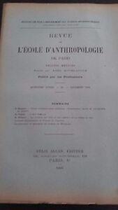 Rivista SCUOLA Antropologia 15 Eme Anni 1905 F.Alcan N° Xi ABE