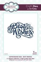 Sue Wilson Dies Expressions Best Wishes Ced5405, 3.1/2x2.1 /8 Nip