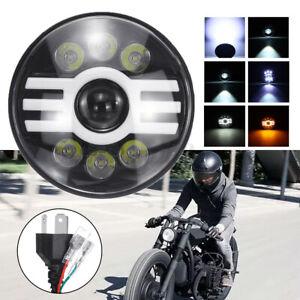 """7"""" Motorcycle Halo Ring LED Headlight Front Light IP68 For Yamaha Honda"""