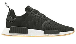 Men-039-s-adidas-NMD-Runner-R1-Casual-Shoes-Core-Black-Gum-B42200