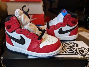 8e7a03d4851 Nike Air Jordan Retro I High OG Origin Story Spider Man TD Gym Red ...