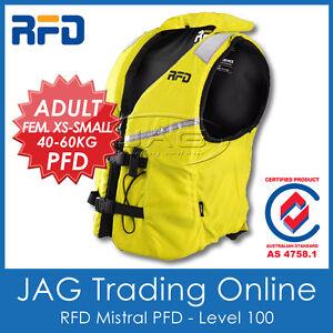 RFD MISTRAL FEM ADULT XS-S 40-60KG PFD LIFE JACKET - Level 100 Lifejacket/Vest
