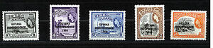 Guyana 1966 Definitives Sg399/403 Neuf Sans Charnière-afficher Le Titre D'origine
