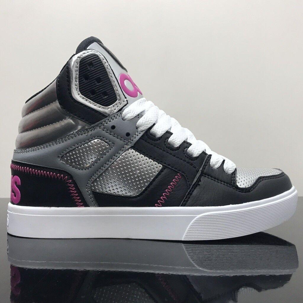 OSIRIS Schuhe CLONE SILVER PINK BLACK LADIES LADIES BLACK TRAINERS 9522cf
