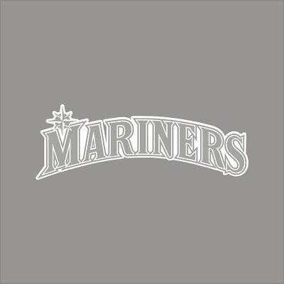 Seattle Mariners #4 MLB Team Logo 1 Color Vinyl Decal Sticker Car Window Wall