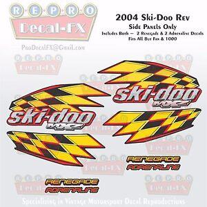 2004 Ski-doo Rev MXZ Side Panels Reproduction Vinyl Decal Piece 8Pc Renegade