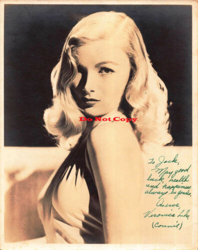 Veronica Lake autographed 8x10 photo RP