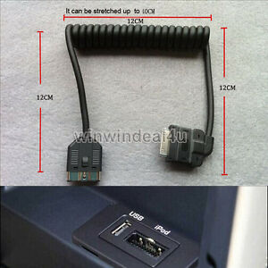 Audio Aux Cable Interface Adapter Iphone Ipod For Land Rover Range Rover Jaguar 602638326875 Ebay