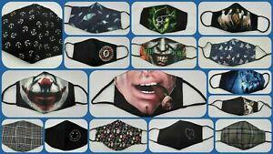 Mund Nasen Maske 3D Motiv modisch lustig Stoffmaske waschbar neu Erwachsene