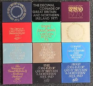 ROYAL MINT PROOF COIN YEAR SET 1970 to 1982 - CHOOSE YOUR YEAR!