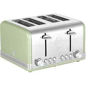 Swan-ST19020GN-Retro-4-Slice-Toaster-Green