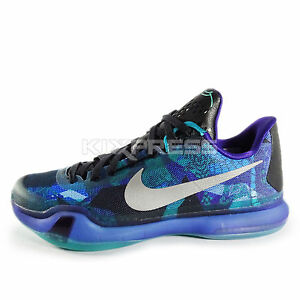 Nike Kobe X EP Basketball Overcome Peach Jam Emerald Silver Purple 745334 305