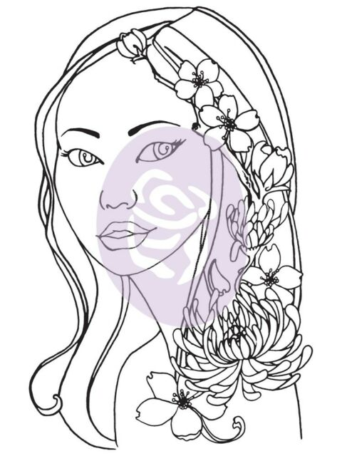 Prima Marketing Bloom Cling Rubber Stamps Girl Karlie 4 by 6-Inch