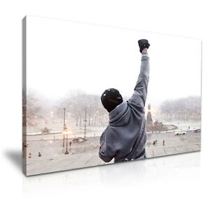 ROCKY BALBOA Quote Stretched Canvas Box ~ More Size