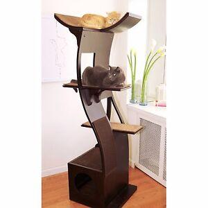 Image Is Loading Cat Furniture Lotus Tree Tower Condo Wood Modern