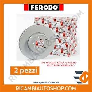 2 DISCHI FRENO ANTERIORE FERODO LANCIA PHEDRA 2.2 JTD KW:120 2006/>2010 DDF 179