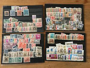 Polen-Lot-1919-ca-1970-auf-vier-Steckkarten-ueberwiegend-gestempelt