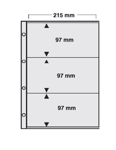 10 x A4 SAMMELHÜLLEN KARTENHÜLLEN BANKNOTENHÜLLEN 120 my 3 Taschen 97 x 215 mm
