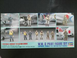 W-W-II-Pilot-Figure-Set-Jap-Ger-Brit-18-F-Hasegawa-Scale-1-48-Kit-X48-7