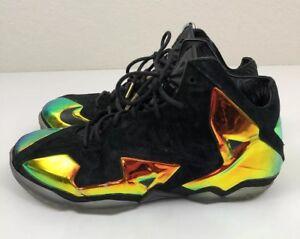 cd284f97976 Nike LeBron 11 XI EXT QS Premium Kings Crown Black 677693-001 Sz ...