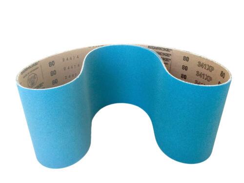 2 Pack 80 Grit Sanding Belts 6 X 48 Zirconia Cloth Sander Belts