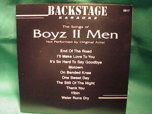 Details about Backstage Karaoke 5817 ~ Boyz II Men ~ CD+G Karaoke ~ Boyz II  Men ~ NEW