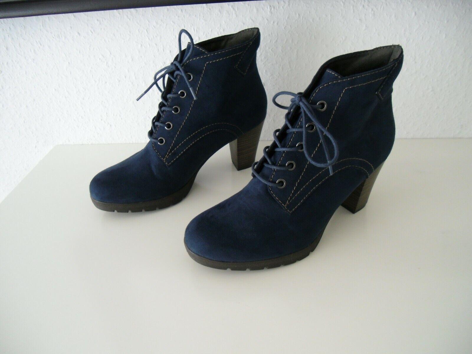 Tamaris Stiefel, Ankle Stiefel, Stiefeletten, Blau, Gr.39 Nagelneu