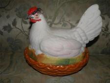 ANTIQUE STAFFORDSHIRE HEN ON NEST figural chicken