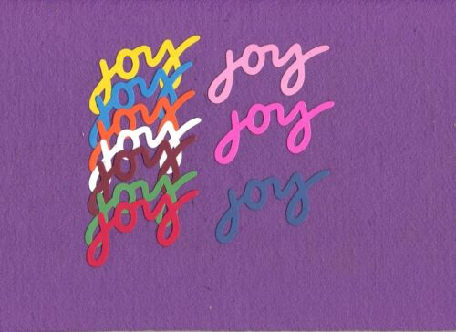 JOY #3  die cuts scrapbook cards