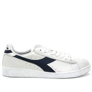 Scarpe sportive uomo DIADORA Game Lo Waxed bianco e blu in pelle 160821 C5262