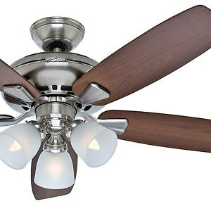 Hunter Fan 52 Inch Brushed Nickel Casual Ceiling Fan 3