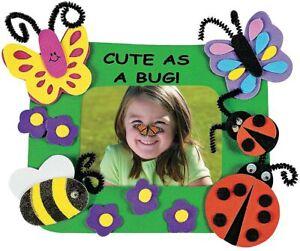 Kids Craft Kit - Cute As Bug Picture Photo Frames Foam Fun Home Activity - 12 pk
