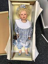Christine Orange Porzellan Puppe 75 cm. Top Zustand.
