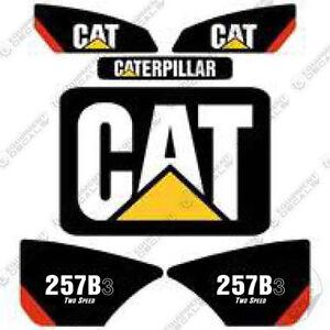 Caterpillar 257B-3 2-speed Kit de Pegatinas Skid Steer Equipamiento Calcamonías