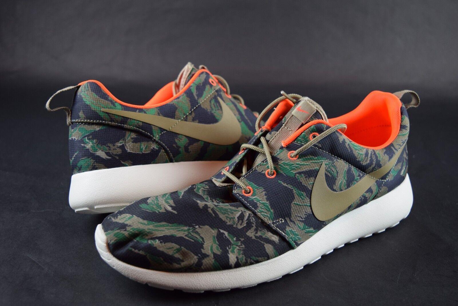New Homme Nike Roshe Run Print 655206 203 SZ  Olive Seaweed  chaussures  sneakers