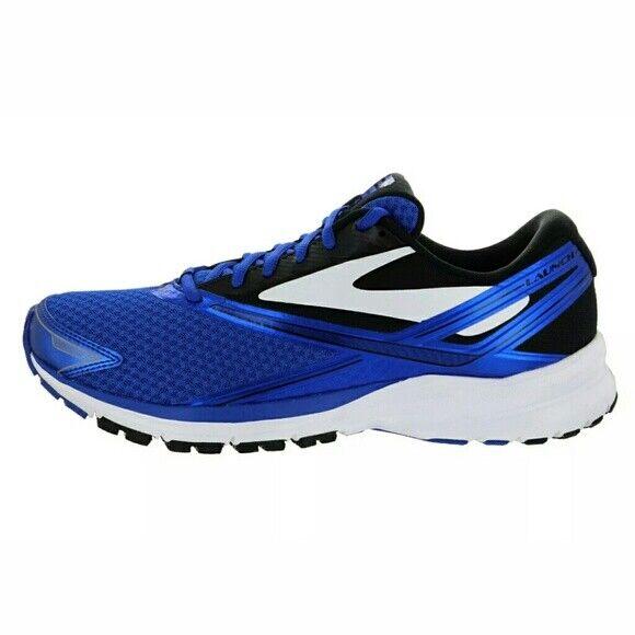 Nuevo Brooks Launch 4 para hombres talla 12 Ancho Medio Azul Zapatillas 1102441D486