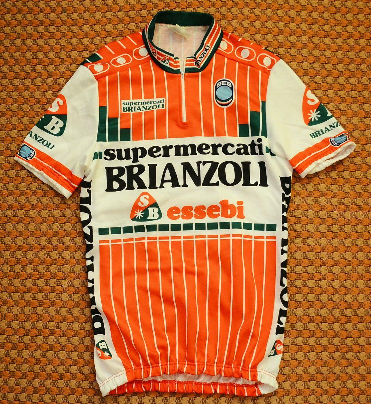 Supermercati Brianzoli, Mens cycling Shirt by SEB, Size Large