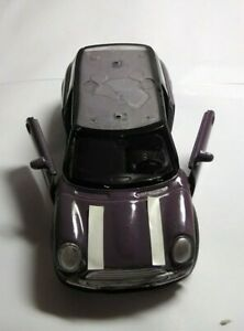 WELLY-DIECAST-1-36-SCALE-MINI-COOPER-PURPLE-WITH-NO-ROOF-UNBOXED