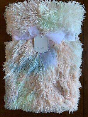 Kyle Deena Baby Blanket Pink Faux Fur Fluffy Plush Reverse Pink Sherpa Luxury