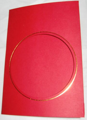 Aperture Cards 3 fold A6 with env and gold or silver borders