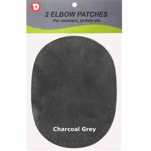 2 Natural Washable Sheepskin Leather Sew-On Elbow Repair Patches 4.5 x 5.5 DIY
