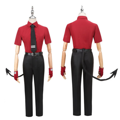 Details about  /Helltaker Justice Cosplay Costume Uniform The Awesome Demon Tail Ears Halloween
