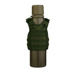 Military-Tactical-Mini-Vest-Soda-Beer-Bottle-Coozie-Coolie-Koozie-OD-Green