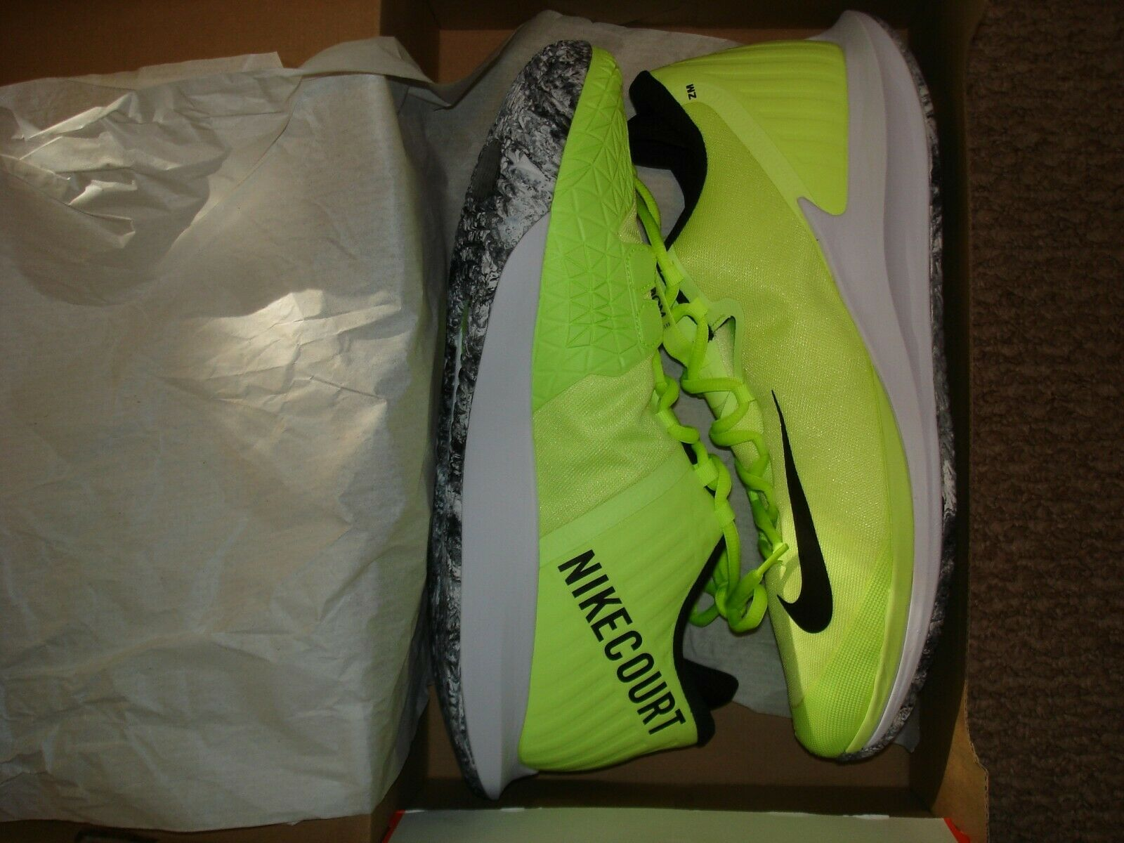 NIB Nike Court Air ZOOM Zero HC PRM Tennis shoes AO5021-700 Size 13