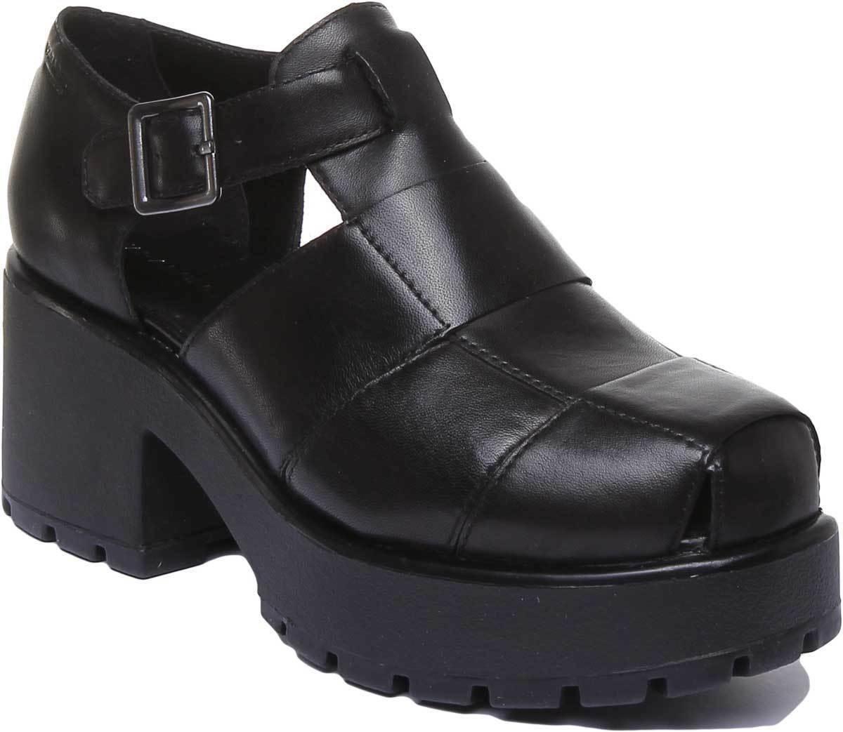 nuevo listado Vagabond Vagabond Vagabond Dioon Mujeres Sandalias de cuero negro grueso tamaño de Reino Unido 3 - 8